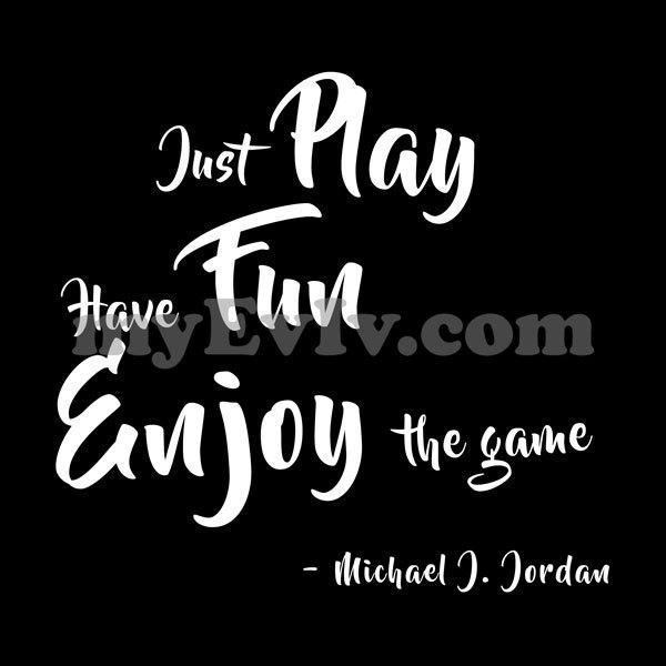 [Black] Play Fun Enjoy T-Shirt