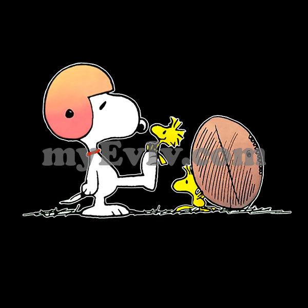 [Black/White] Snoopy Football T-Shirt