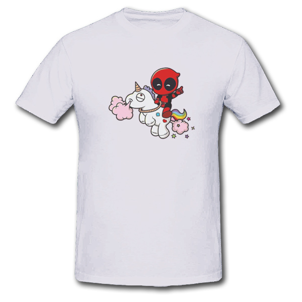 Deadpool with Unicorn Unisex Short Sleeve T-Shirt