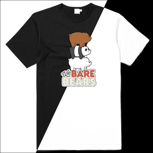 [Black/White] We Bare Bears Stack T-Shirt