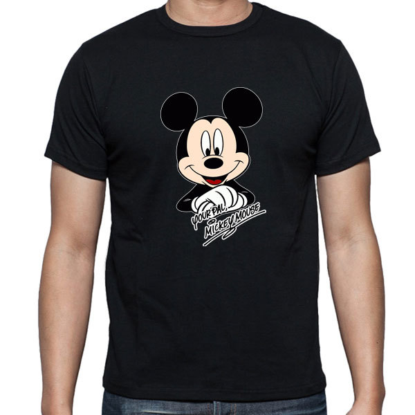 [Black/White] Mickey Mouse Portrait T-Shirt