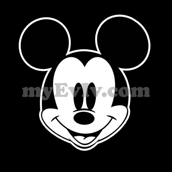 [Black/White] Mickey Mouse Head T-Shirt