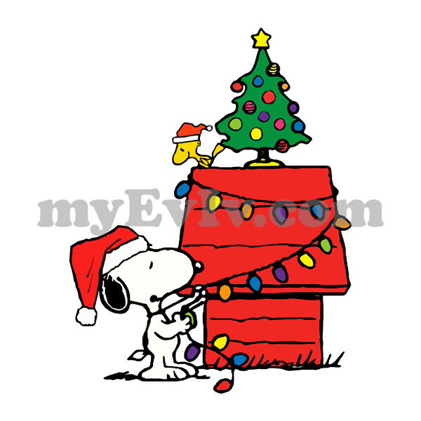 [Black/White] Snoopy Woodstock Christmas T-Shirt