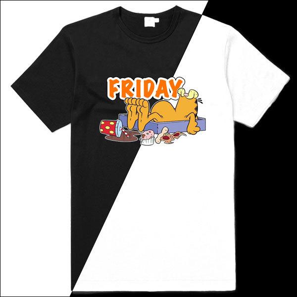 [Black/White] Garfield Friday T-Shirt
