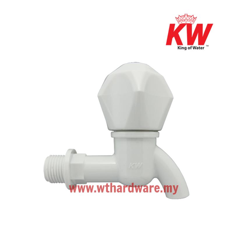 KW Water Plastic Bib Tap HT White Short.png