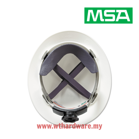 MSA V-Gard Full Brim Safety Hard Hats White.png
