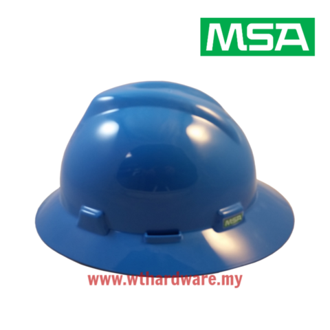 MSA V-Gard Full Brim Safety Hard Hats Blue.png
