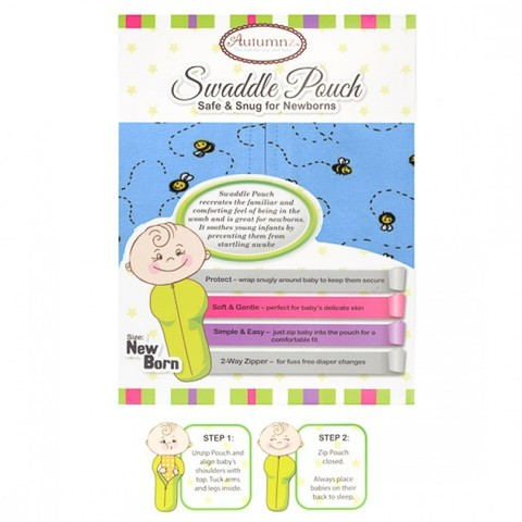 Autumnz - Swaddle Pouch (Honey Bee - Blue).jpg