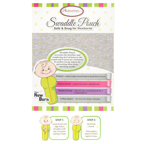 Autumnz Swaddle Pouch Safe & Snug for Newborns Grey.jpg