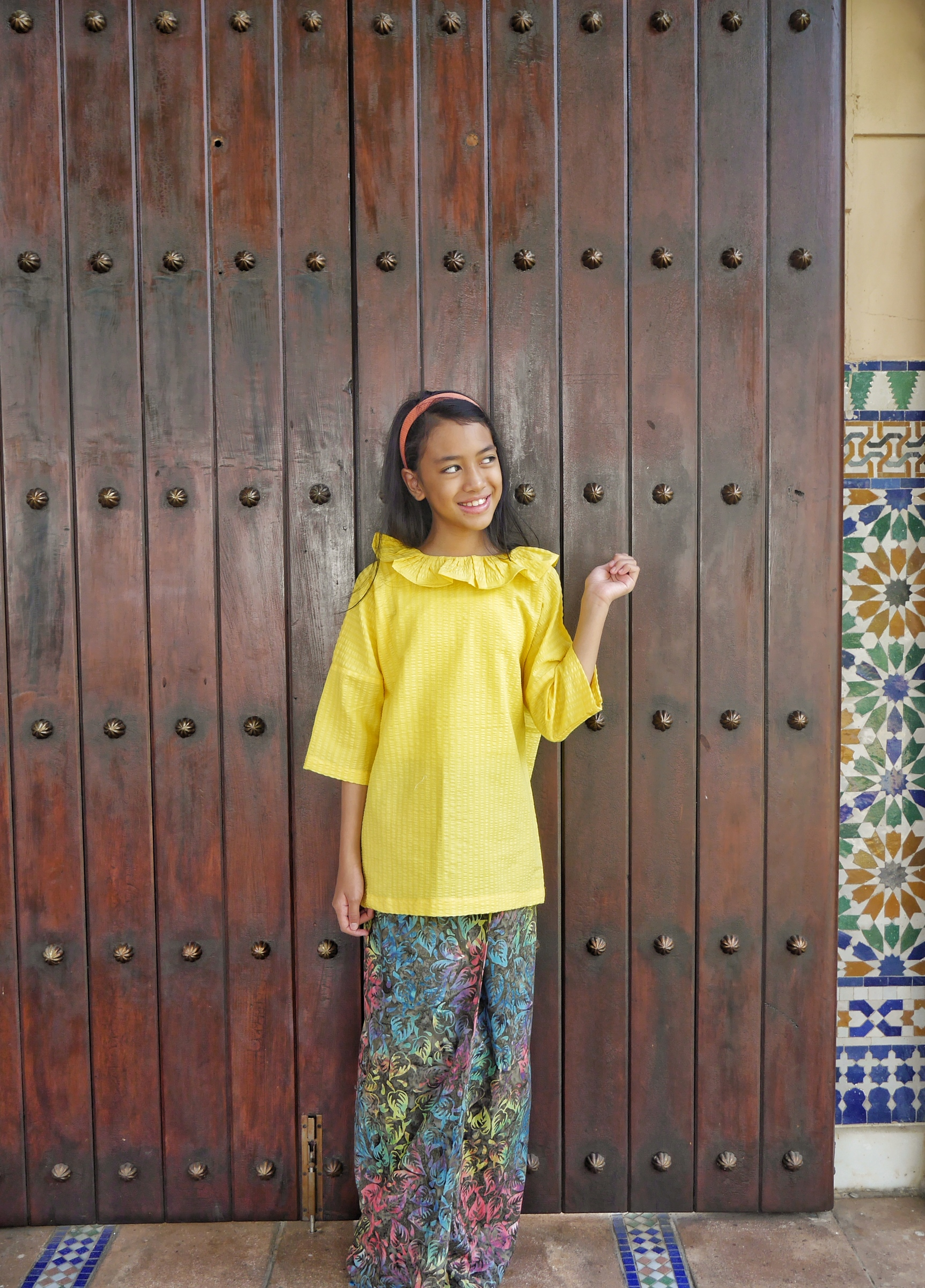 Pippi Kurung Moden in Banana Yellow