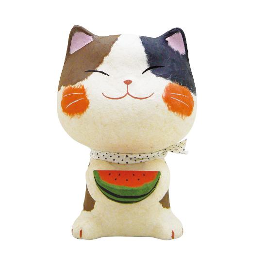 西瓜 紙貓擺飾 大.png