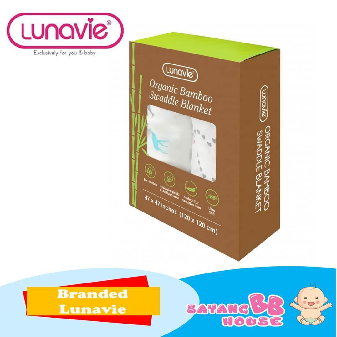 Lunavie Bamboo Baby Organic Cotton Swaddle (120cm x 120cm)