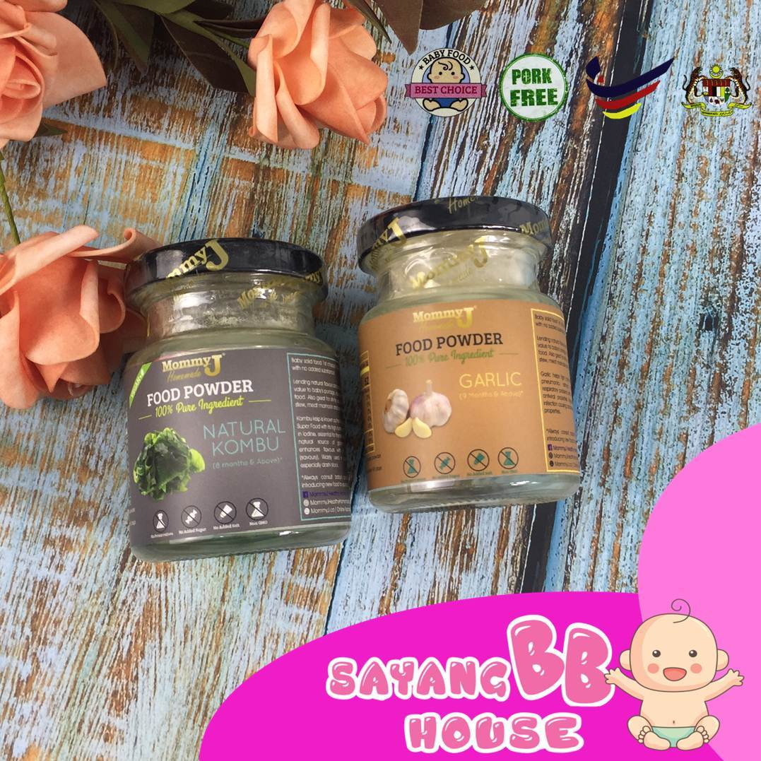 Baby Food Powder MommyJ Package Baby Garlic + Natural Kombu