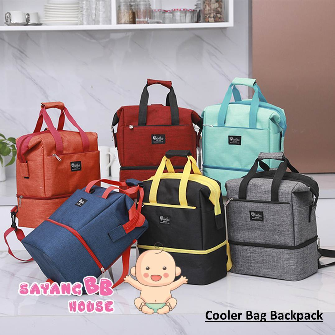 Foldable Cooler Bag For Breastmilk Storage Bag Bottle Feeding Breast Bump (Colored) FREE Ice Brick x 1