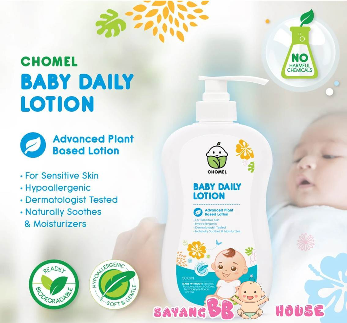 CHOMEL Newborn Baby Skin Care  Daily Lotion 500ML - Natural product for Sensitive Skin