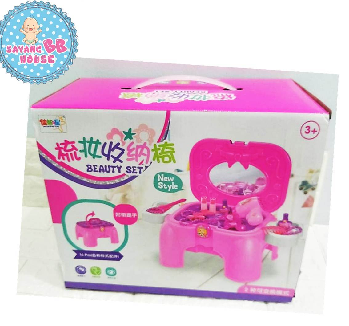 Chair Kids Play Set For Girls With Jewelery