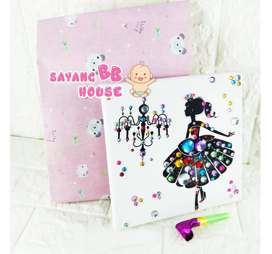 DIY Water Colour Painting / Button / Diamond Sticker Birthday party Gift ( DIY Gift for Kid Room)