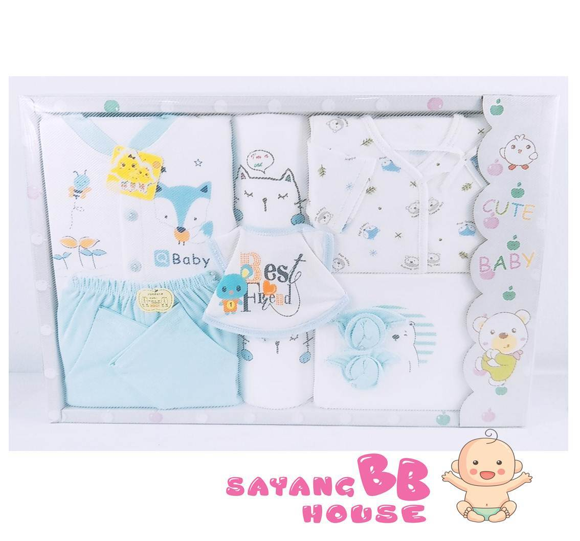 Summer Newborn Baby Clothing Gift Set of Cotton Set 8pcs