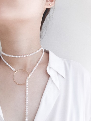LESIS couture_Extra Long Pearl High layer Necklace_06.jpg