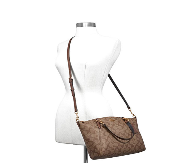 f42628ccd4af COACH SMALL KELSEY SATCHEL IN SIGNATURE CANVAS (COACH F28989)