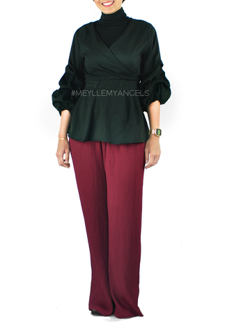 Lily Pleated Pants Maroon a.jpg