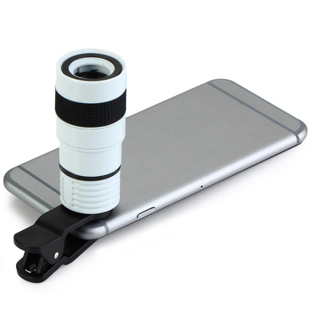 LQ - 007 MULTI-COATING GLASS UNIVERSAL 8X ZOOM TELEPHOTO LENS SHUTTERBUG NECESSARY FOR IPHONE 6 PLUS (WHITE)
