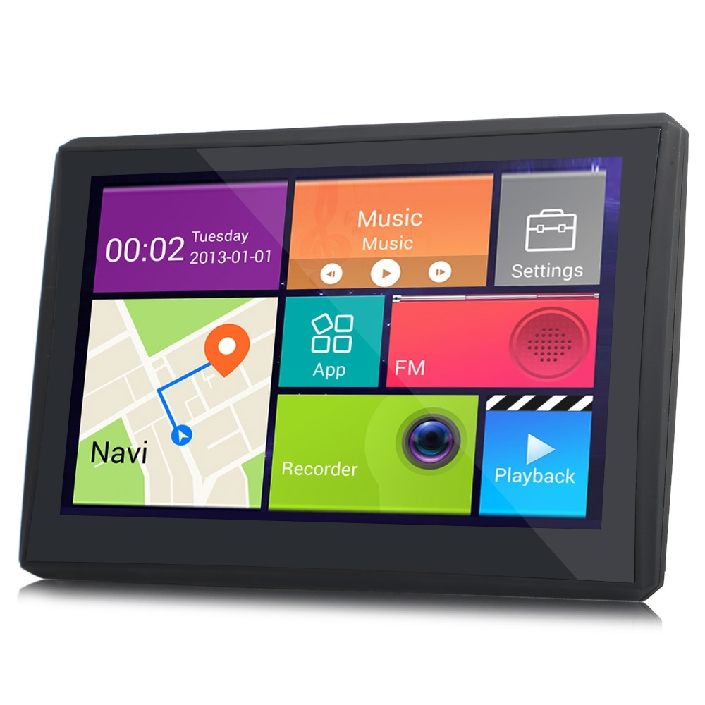 902 7 INCH ANDROID 4.4 CAR TABLET GPS 170 DEGREE WIDE ANGLE (BLACK)