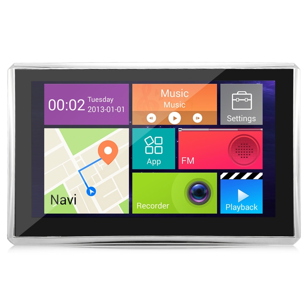 508 5 INCH ANDROID 4.4 CAR TABLET GPS 170 DEGREE WIDE ANGLE (BLACK)