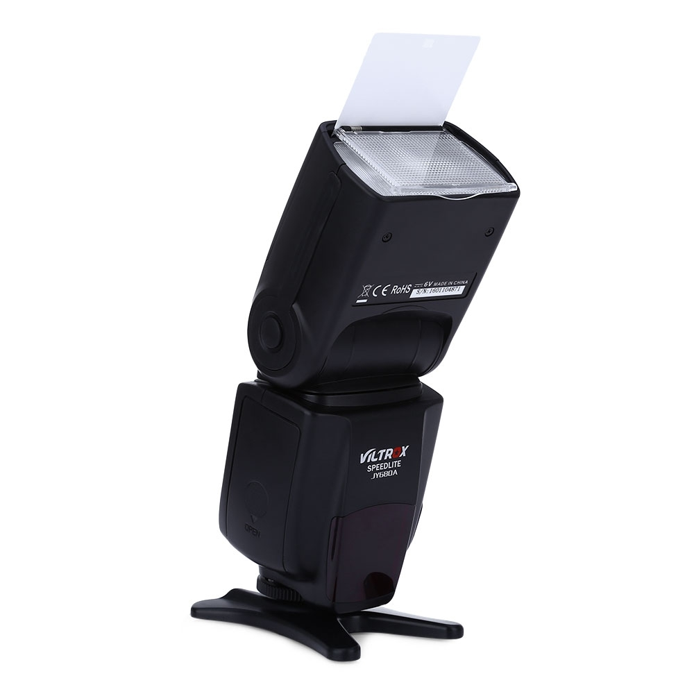 VILTROX JY - 680A UNIVERSAL LCD MANUAL FLASH SPEEDLITE LIGHT FOR ANY DIGITAL CAMERA WITH STANDARD HOT SHOE MOUNT (BLACK)