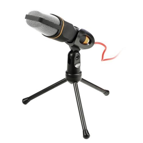 YANMAI CONDENSER SOUND MICROPHONE WITH STAND FOR PC LAPTOP SKYPE RECORDING (BLACK)