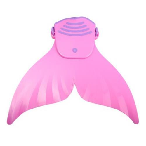 SWIMMING PADDLE SHOES WAVE FINS SCUBA DIVING EQUIPMENT MERMAID TAIL MONOFIN (PINK)
