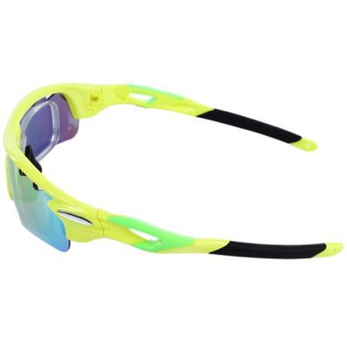 ddc65bd05e WILDCYCLE POLARIZED BIKE CYCLING GLASSES EYEWEAR UNISEX REVO RUNNING SPORT  SUNGLASSES WITH 5 LENS (YELLOW)
