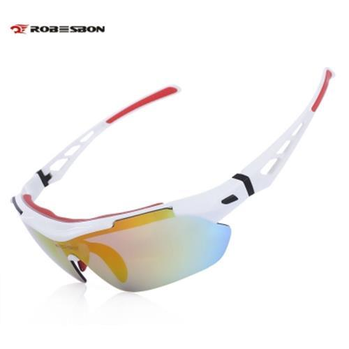 50e75923c6 ROBESBON TSR838 OUTDOOR SPORT MOUNTAIN BIKE WINDPROOF CYCLING POLARIZED  GLASSES EYEWEAR GOGGLES (WHITE)
