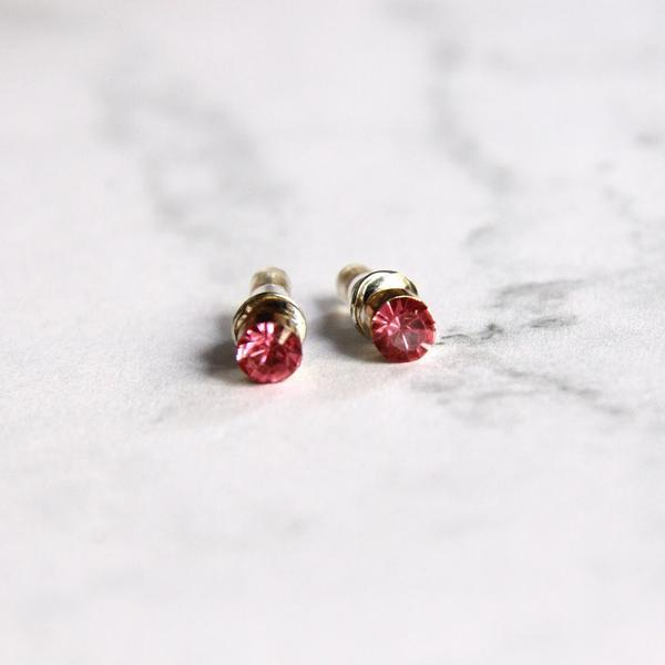 Cute Pink Stud Earrings
