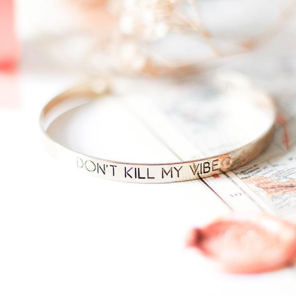 Don't Kill My Vibe Cuff - Gold TheCloset101.jpeg