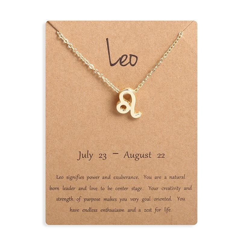 Leo horoscope necklace gold TheCloset101