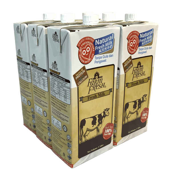 [ Surprise Tuesday] FARM FRESH UHT Fresh Milk (1 Litre) x 3