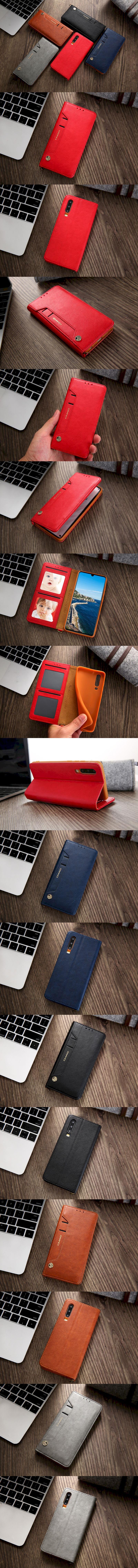 359-Huawei-前袋口插卡收納隱藏磁扣手機套皮套