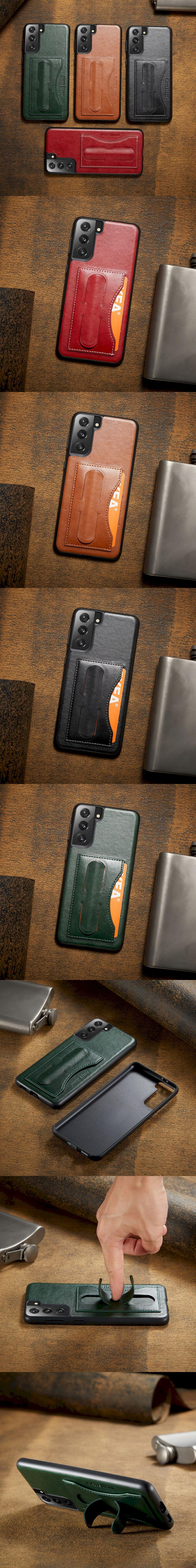 420-Samsung-拍拍支架插卡背蓋手機殼(S21)