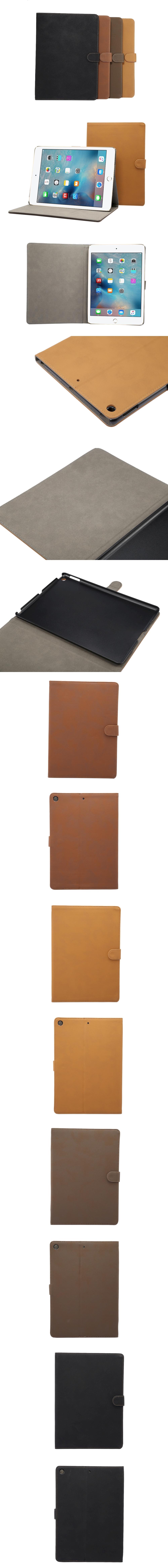 540-599-IPad-復古紋翻蓋扣帶皮套支架平板套