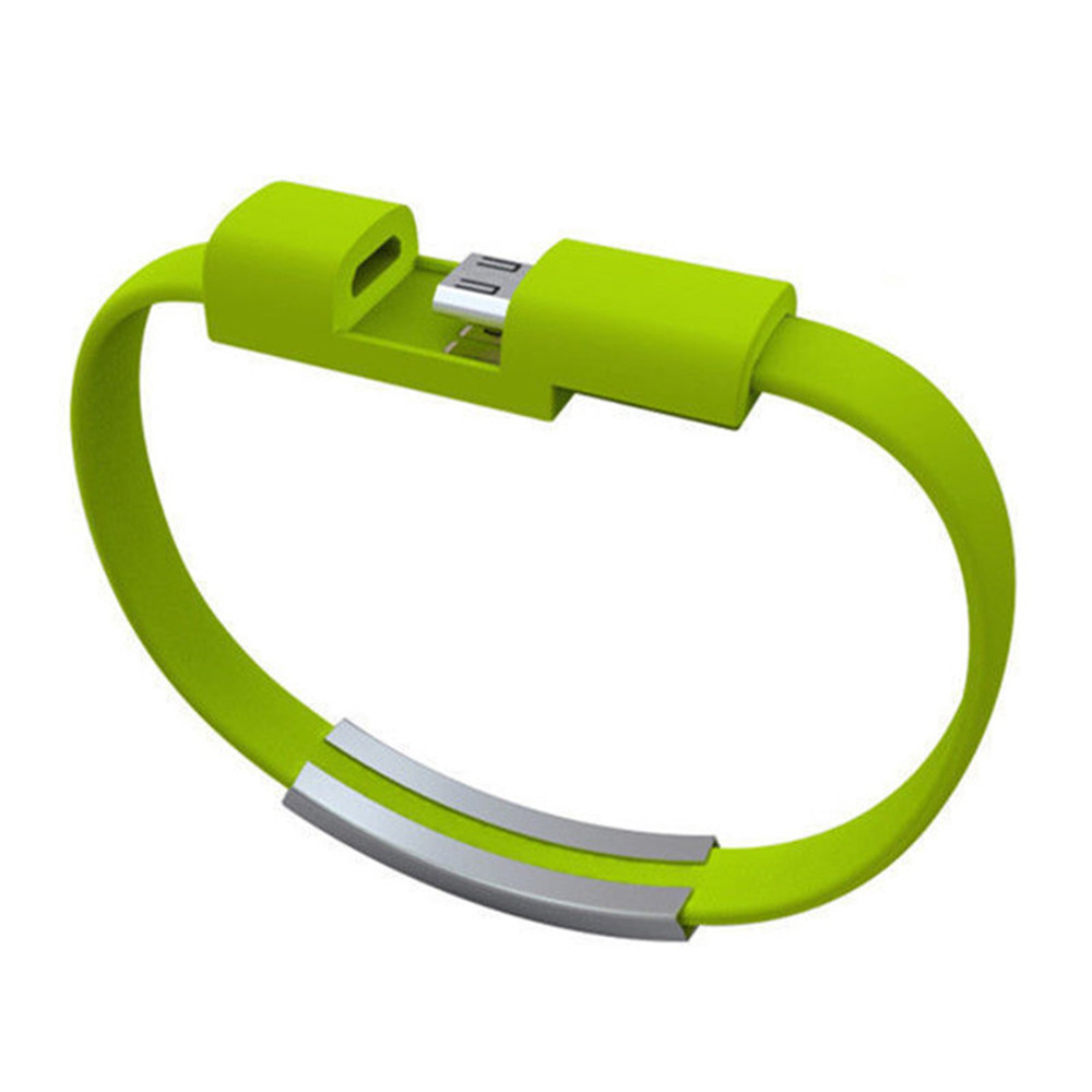 Colorful Mini Micro USB Bracelet Charger Data Charging Cable Sync Cord Android Phone Portable Bracelet