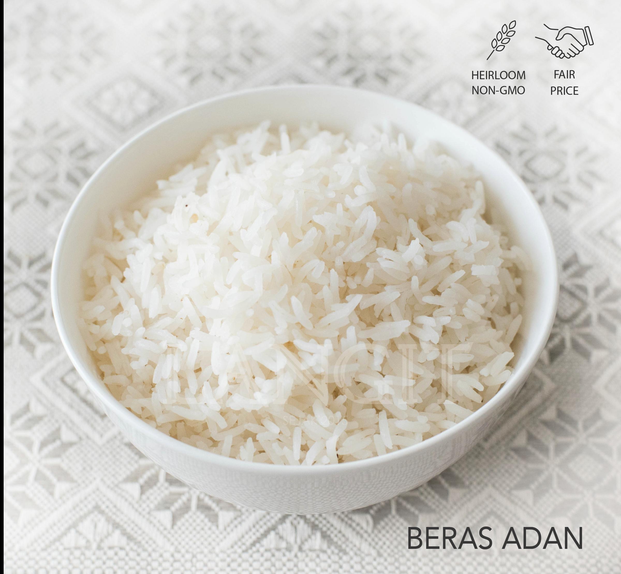 langit collective beras adan white rice