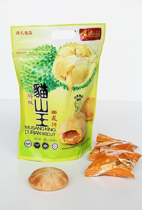 Cat Mountain King Durian Biscuit ( 6 pcs ) 猫山王榴莲香饼