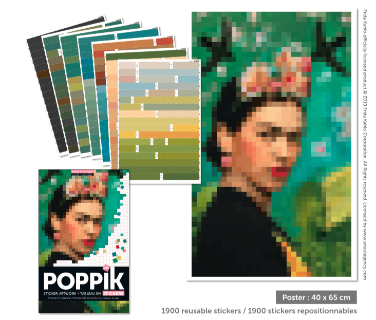 Poppik Frida Poster Stickers Mosaic Art by number Portrait.png