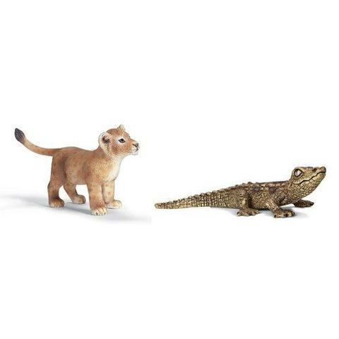 Schleich 史萊奇動物模型-蜥蜴 & 小獅子-2.jpg