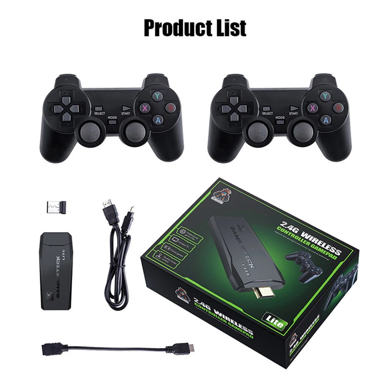 Retro Game Stick Console With 10000 Classic Games Gamebox Permainan Video Game Arcade PS1 NES Permainan Tv Game PS