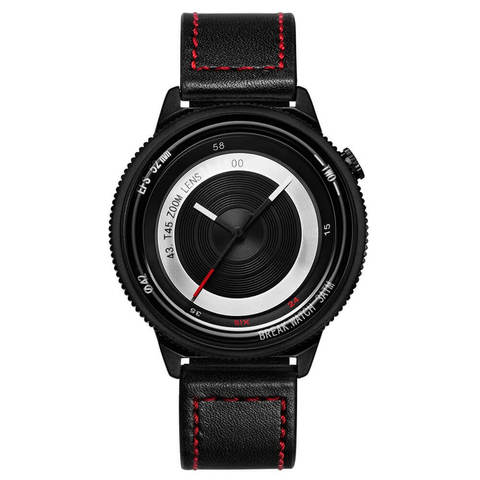 Lens Black Break Watches Black Red Leather.jpg