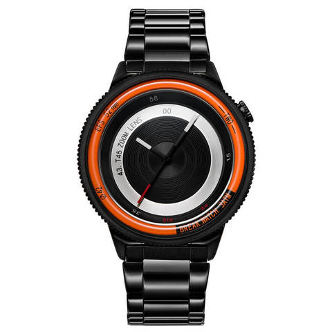 Lens Orange Break Watches Black Steel Straps.jpg