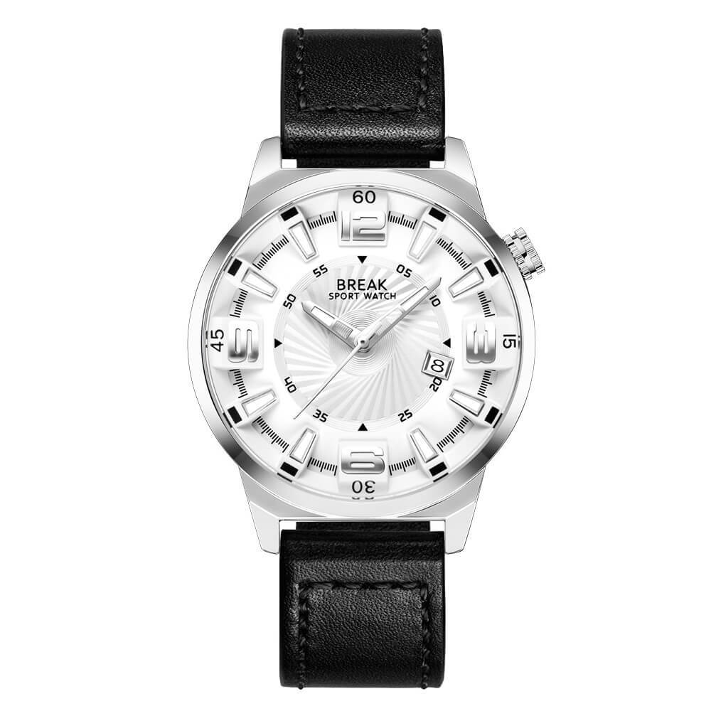 Shutter White Break Watches Black Leather Straps.jpg