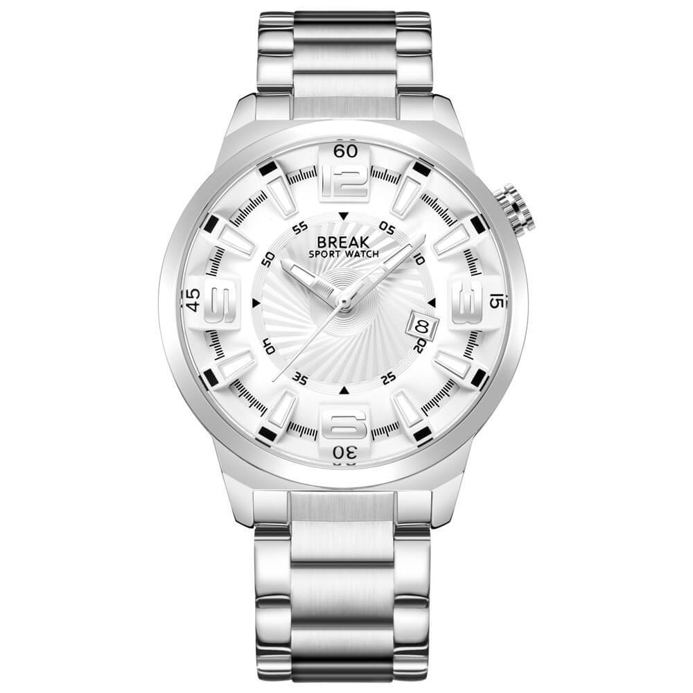 Shutter White Break Watches White Steel Straps.jpg